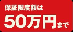 保証限度額は50万円まで